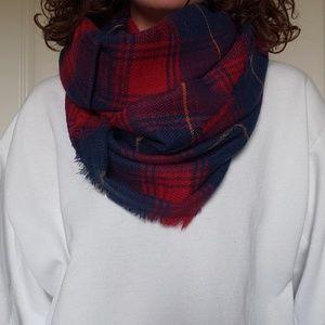 Lulu plaid infinity scarf